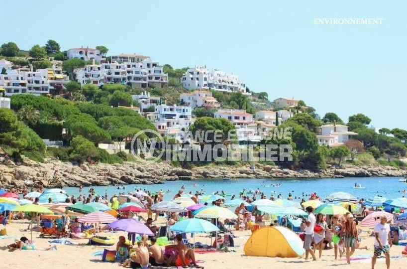 vente immobilière costa brava: ref.3818, belle plage de sable fin à l'escala aux environs