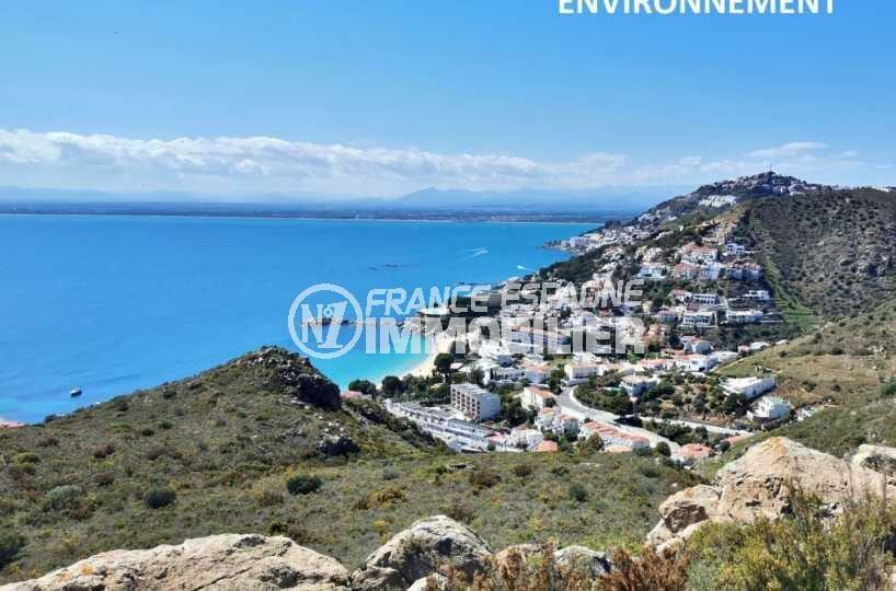 la costa brava: appartement ref.3826, vue plongeante des environs de canyelles petites