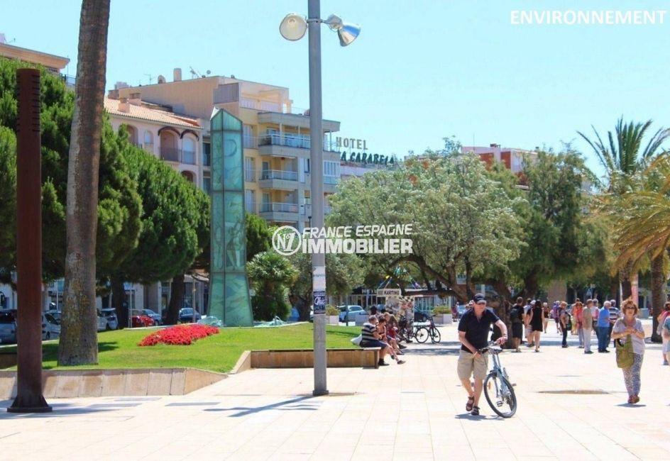 rosas en espagne: villa ref.3815, promenade le long de la plage