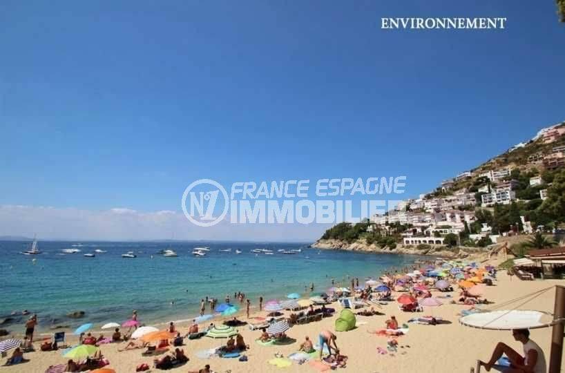 agence rosas, place de parking ref.3819, aperçu de la plage aux alentours