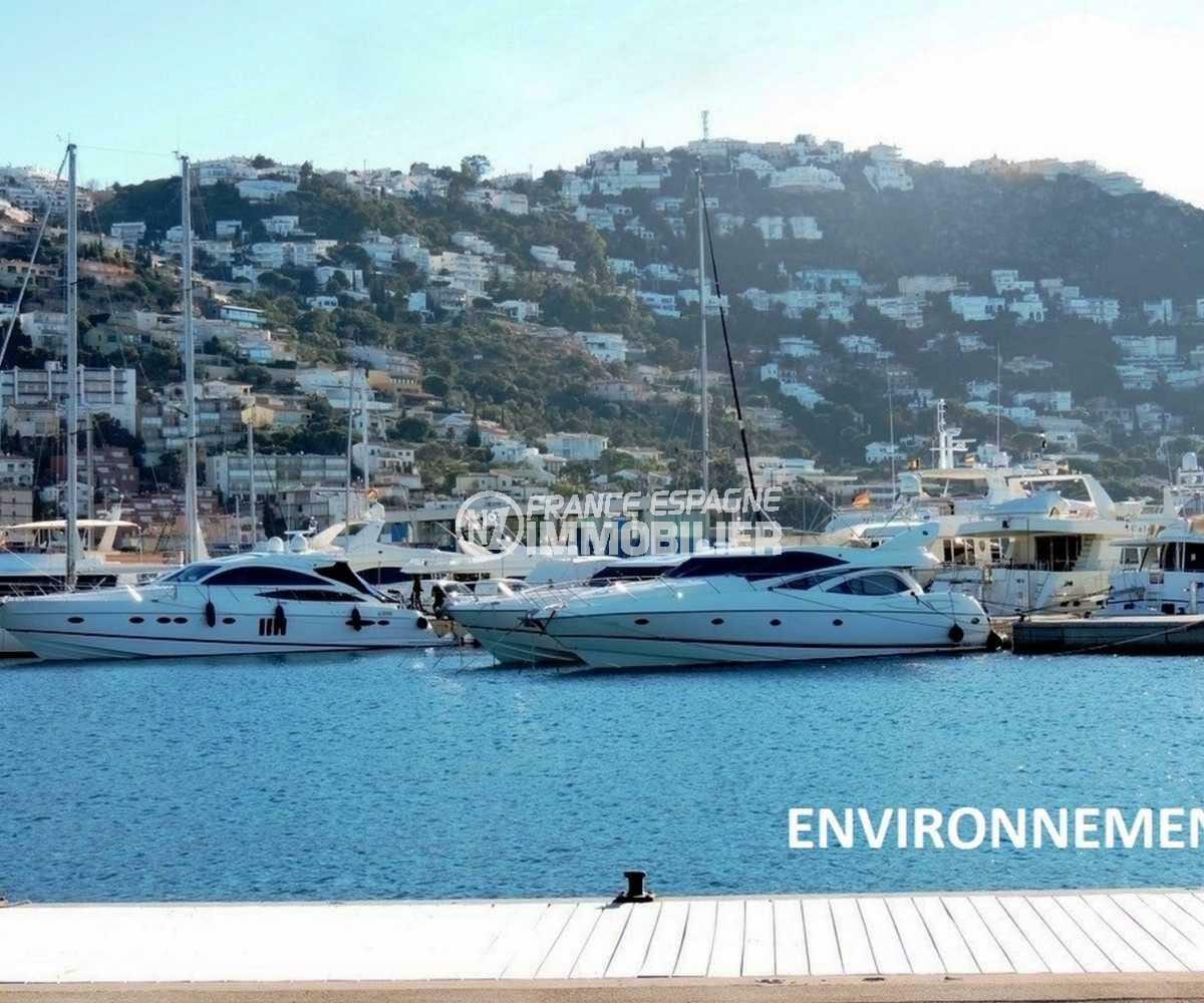 immo costa brava: terrain contstructible à vendre ref.3821, aperçu du port de plaisance aux environs