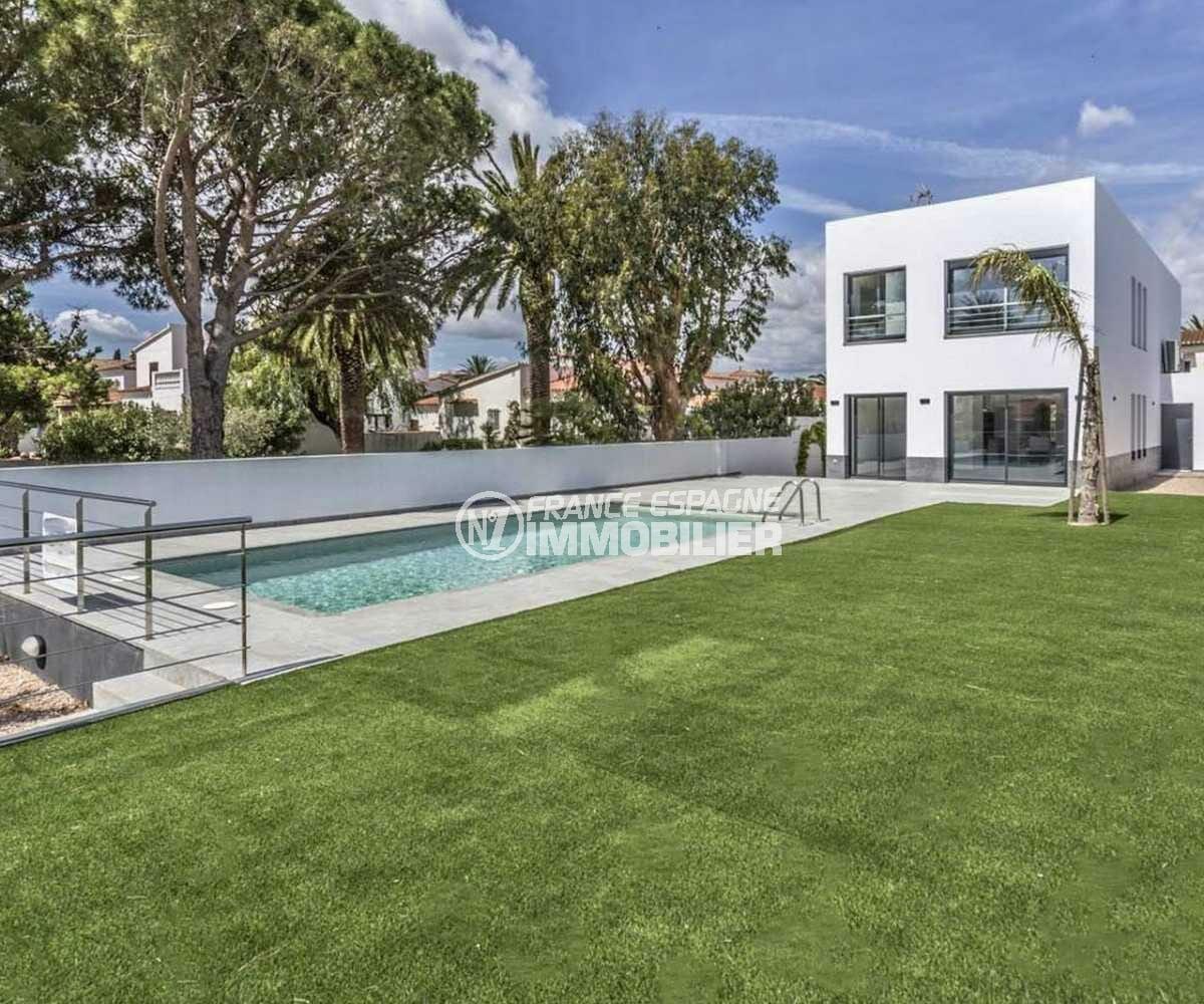 agences immobilieres empuriabrava: villa contemporaine 140 m² ref.3825, terrain de 540 m²