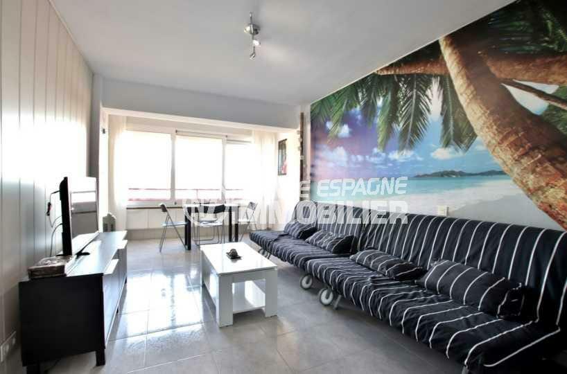 vente appartement rosas, ref.3845, studio dans résidence avec piscine, parking