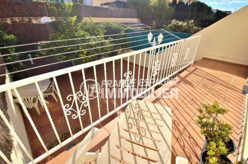 immo roses: villa ref.3841, terrasse de la suite parentale à l'étage