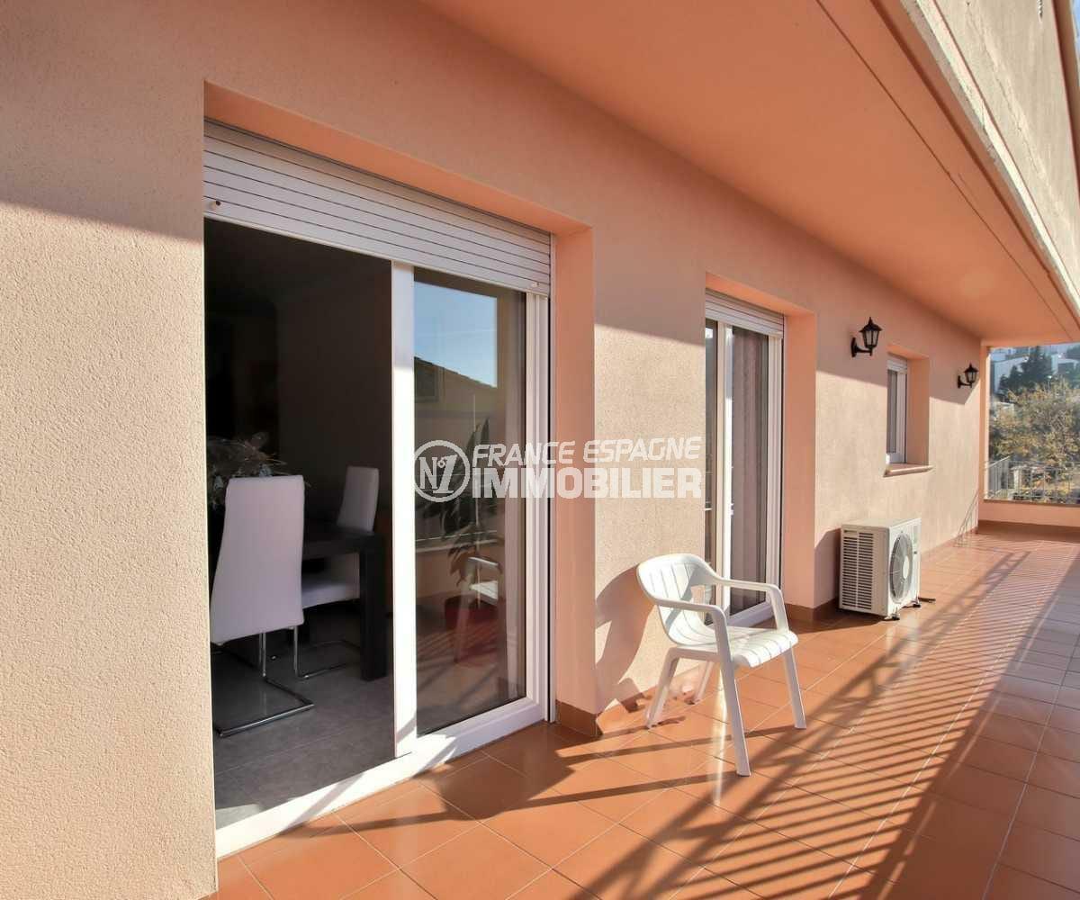 immobilier roses espagne: villa ref.3840, terrasse avec accès au salon