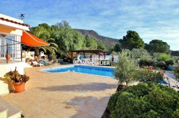 la costa brava: villa ref.3847, vue imprenable sur les montagnes depuis la piscine