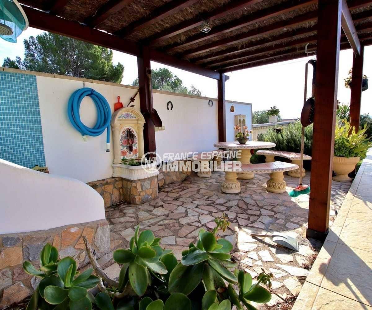 immo costa brava: villa ref.3847, espace détente près de la piscine