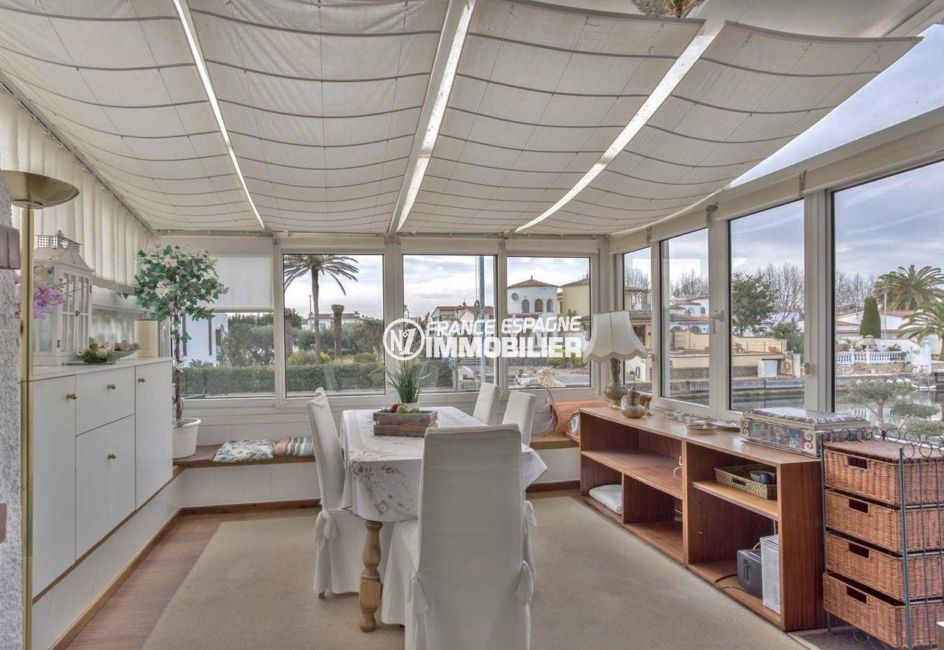 immobilier costa brava: villa ref.3831, terrasse véranda, superbe vue sur le canal