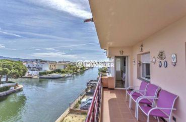 agence immo empuriabrava: appartement ref.3829, grande terrasse vue canal avec accès salon