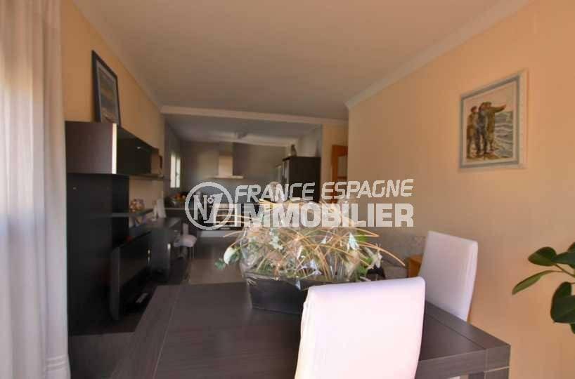 vente immobilier rosas espagne: ref.3840, salon / salle à manger avec cuisine ouverte