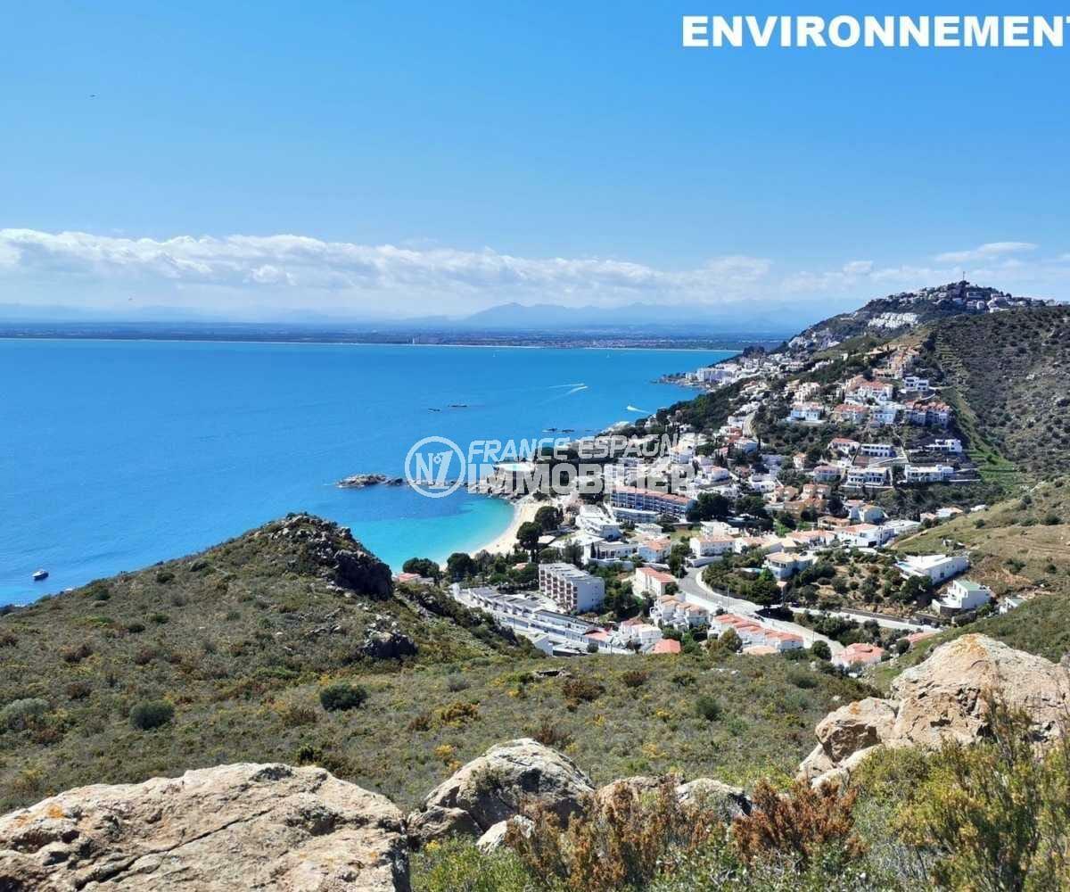 immo center roses: villa ref.3841, vue plongeante sur le quartier proche de la mer