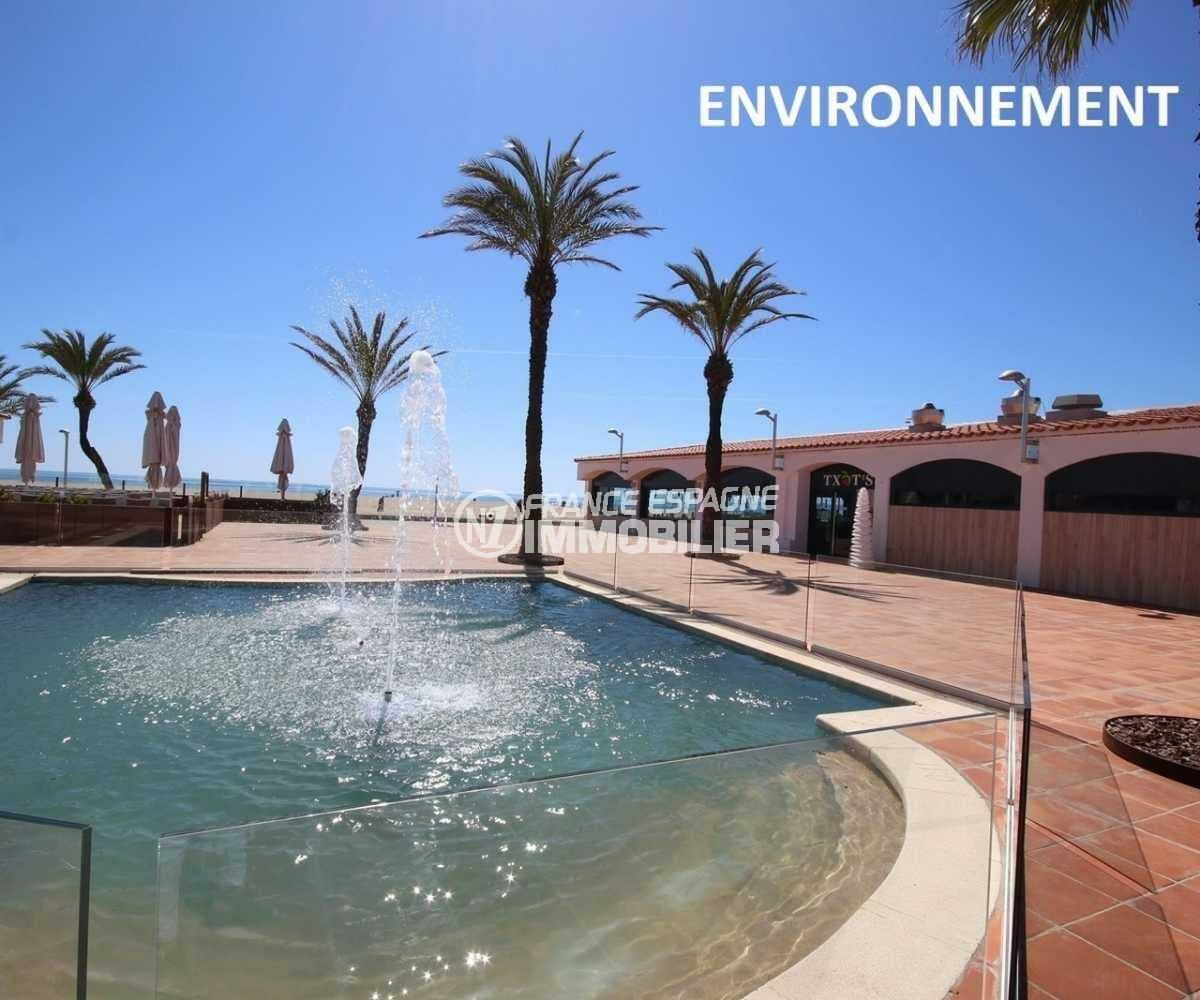 immocenter empuriabrava: appartement ref.3843, resataurants aux abords de la plage à proximité