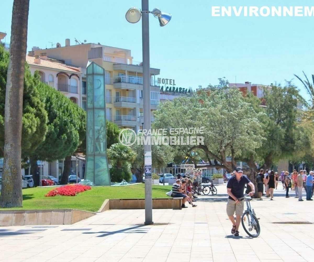 habitaclia rosas: villa ref.3841, promenade la long de la plage de rosas aux environs