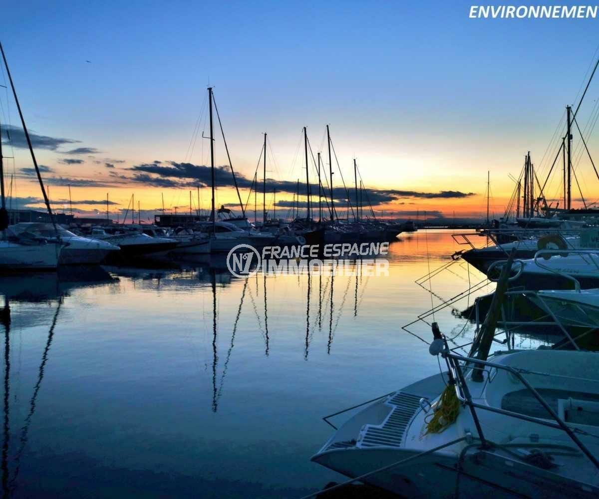 maison a vendre espagne catalogne, ref.3841, coucher de soleil sur la marina aux alentours