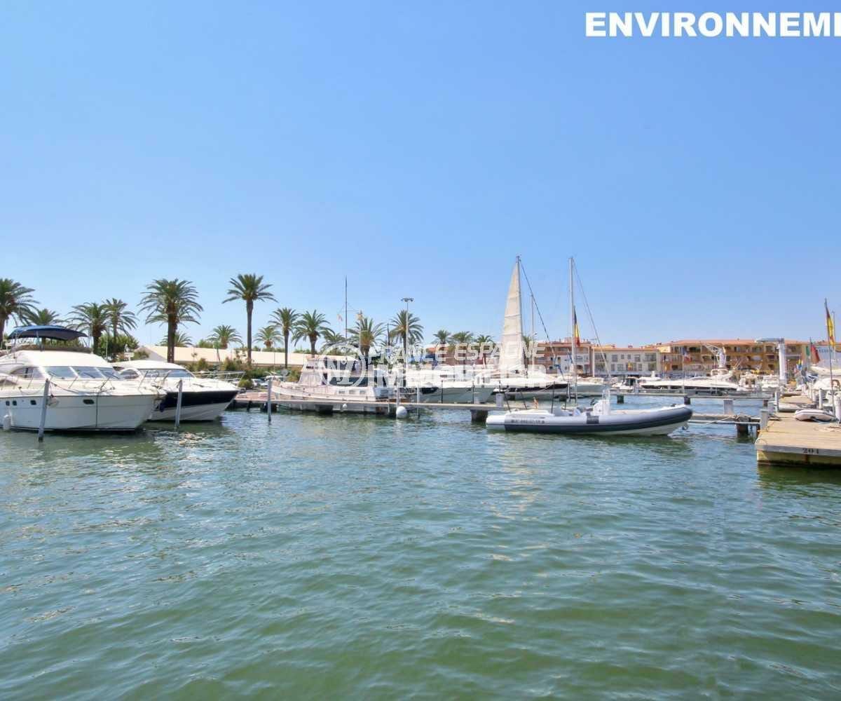 vente maison costa brava, ref.3825, 140 m² construit, 4 chambres, piscine sur jardin 540 m² au bord du canal
