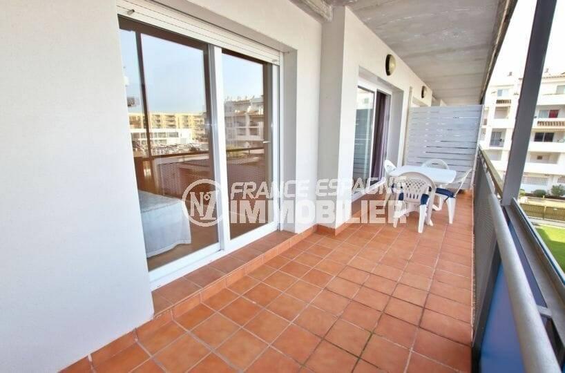 vente appartement rosas, ref.3862, terrasse 11 m² pettie vue canal, piscine