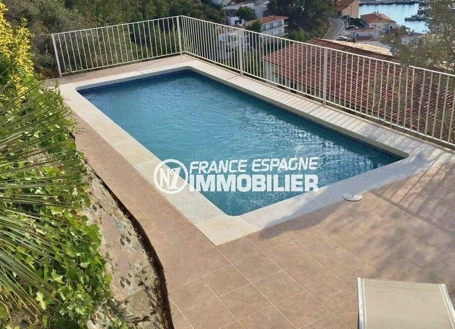 agence immobiliere costa brava: villa 414 m², aperçu de la piscine sécurisée de 7 m x 3 m