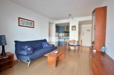 appartements a vendre a rosas, ref.3862, séjour / salle à manger avec coin cuisine