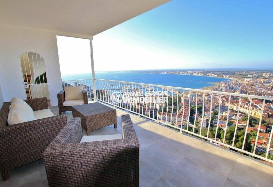 maison a vendre rosas, 414 m² vue mer imprenable, piscine, sauna, jacuzzi et garage