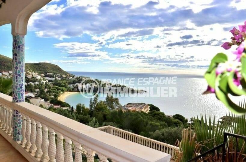 agence immobiliere costa brava: villa 285 m², vue mer almadraba depuis la terrasse