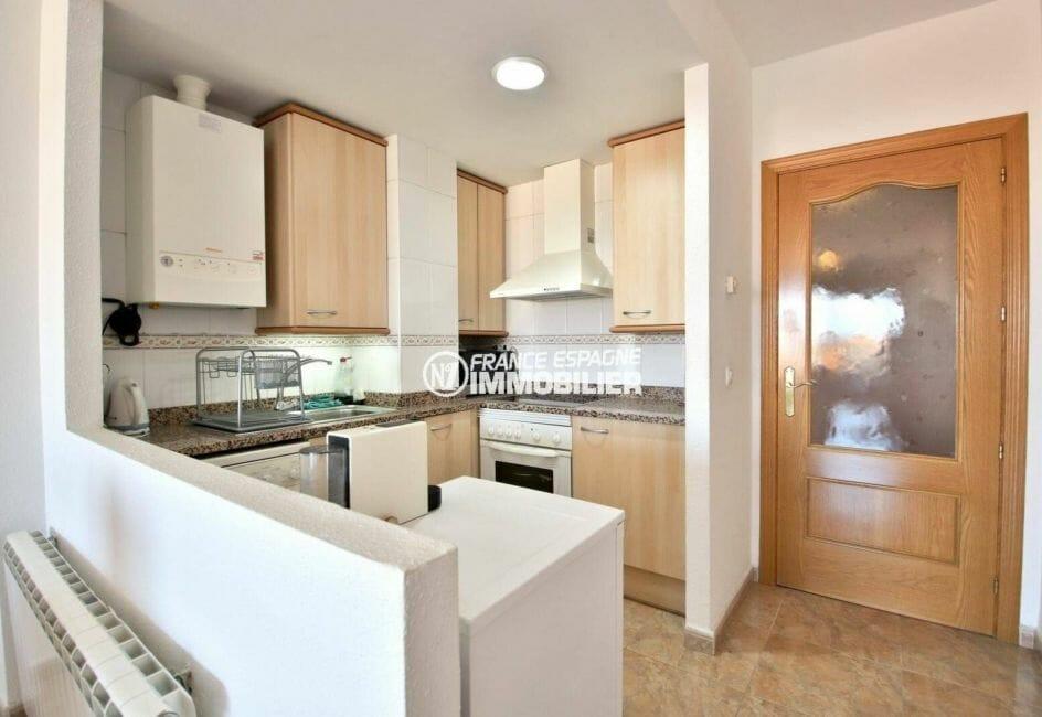 immobilier espagne costa brava: appartement ref.3861, cuisine américaine toute équipée