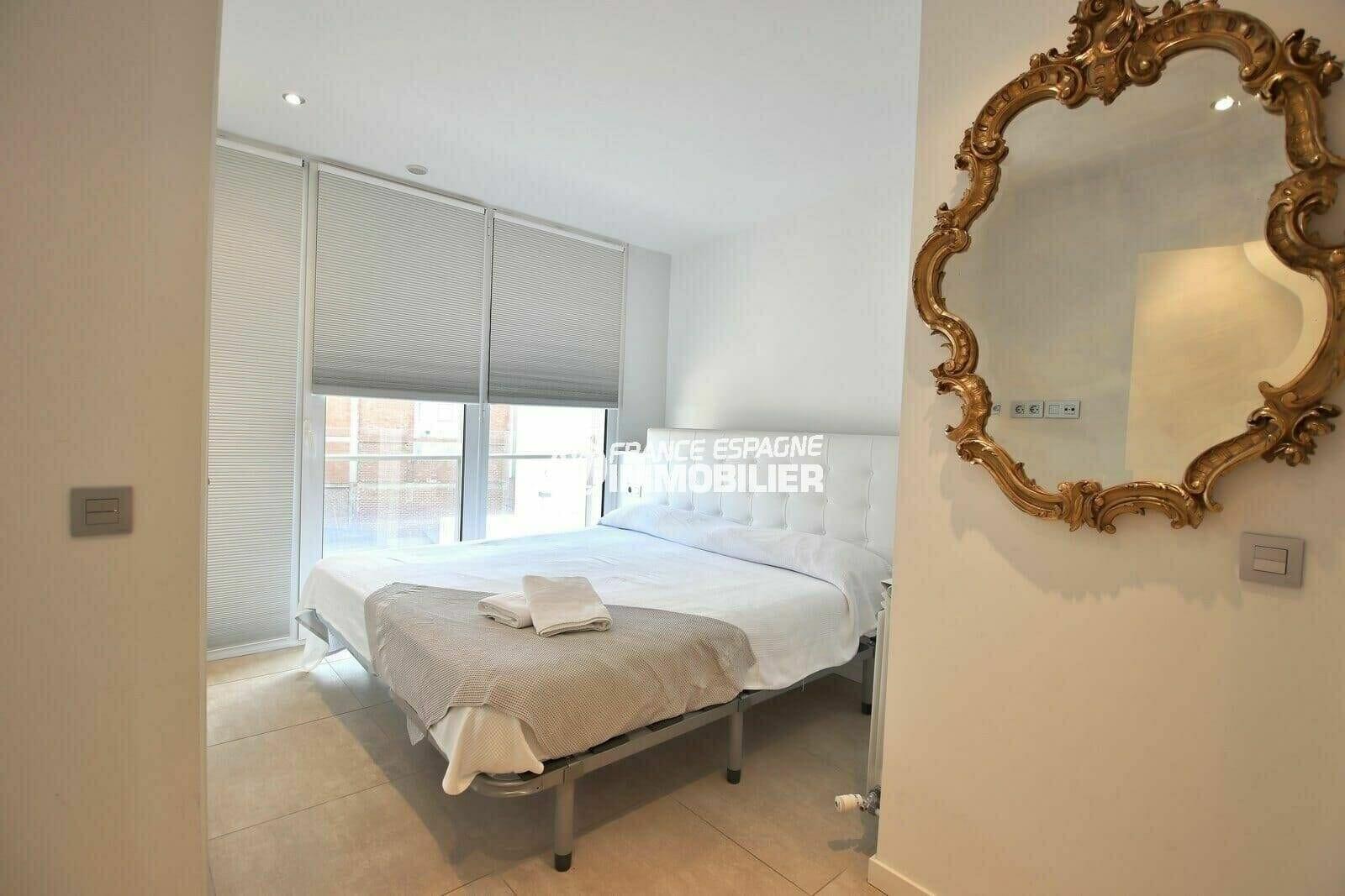 vente appartement rosas espagne, 112 m², première chambre avec lit double