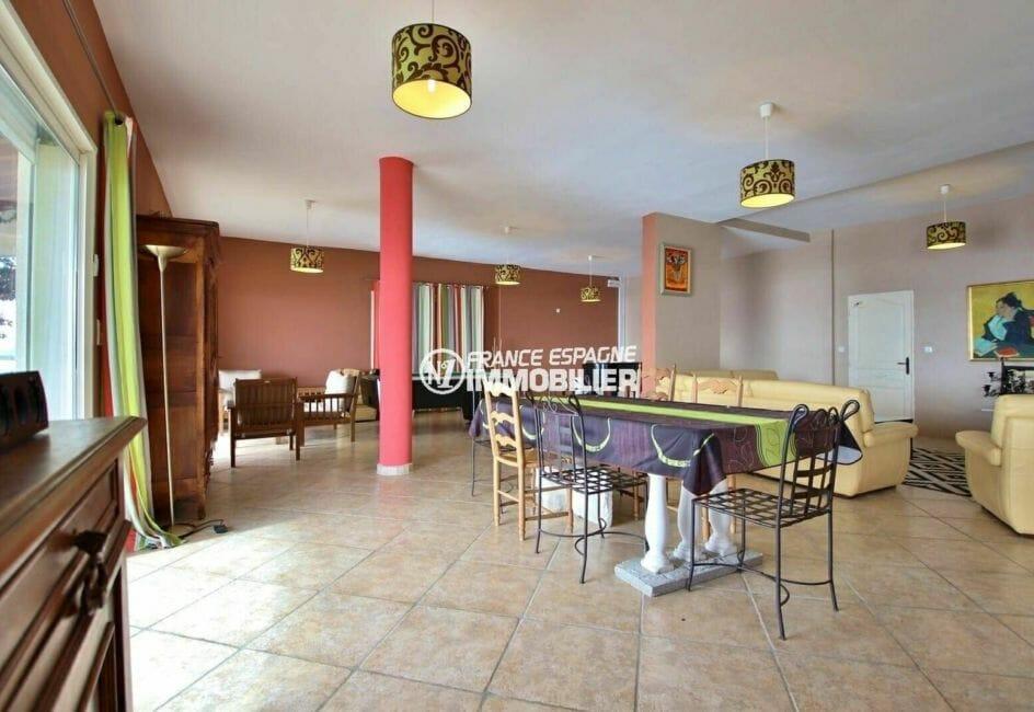vente maison rosas espagne, 285 m², vue sur l'ensemble du salon / séjour avec coin détente