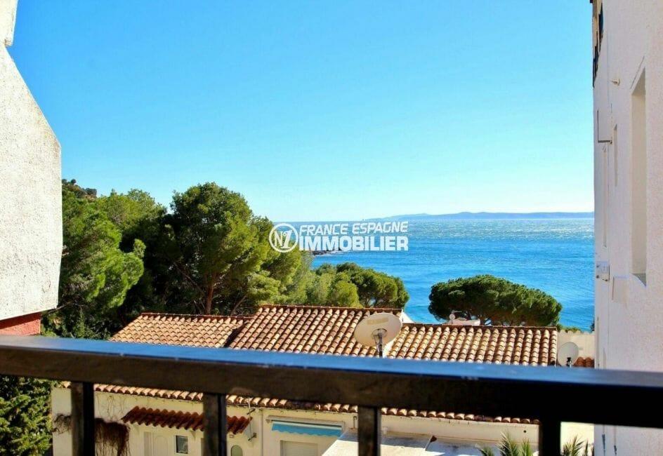 acheter appartement rosas, 31 m², vue mer imprenable depuis la terrasse