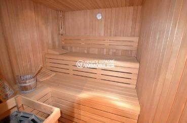 agences immobilieres roses: villa 414 m², aperçu de l'espace détente avec un sauna