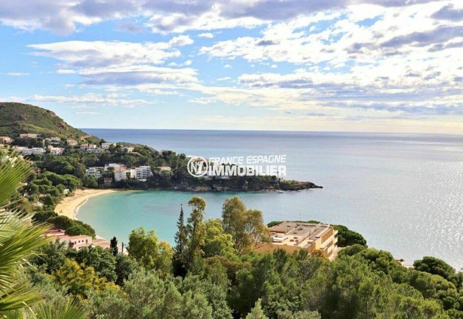 immobilier costa brava: villa 285 m², sublime vue de la mer d'almadraba depuis la terrasse