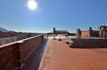 appartement costa brava, ref.3861, piscine sur le toit vue mer et montagnes