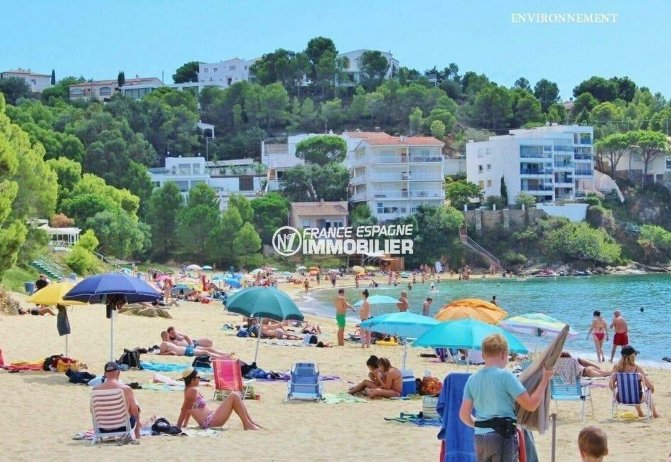 plage et commerces aux alentours