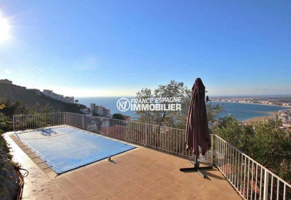 maison a vendre espagne bord de mer, terrain 847 m², piscine sécurisée avec magnifique vue dégagée