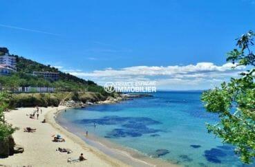 magnifique vue sur la plage environnante