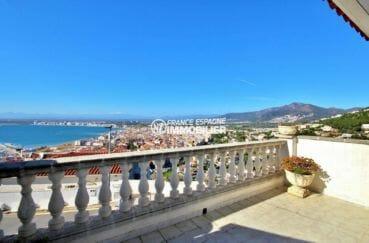 agence immo rosas vend villa 174 m² avec 3 terrasses vue mer imprenable