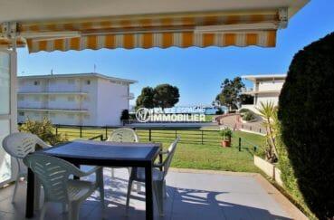 agence immo rosas: appartement à 30 m  de la plage, 2 chambre, séjopur terrasse 12 m²