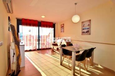 appartement a vendre a rosas, ref.3867,  salon / séjour donnant sur terrasse