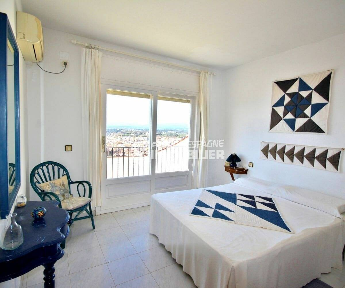 première chambre, lit double, superbe vue mer | villa ref.3871