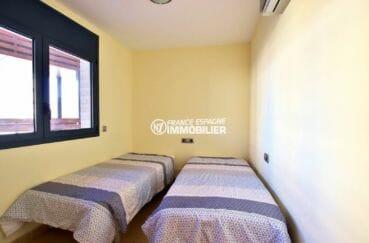 appartement à vendre à rosas espagne, ref.3867, seconde chambre avec deux lits simples