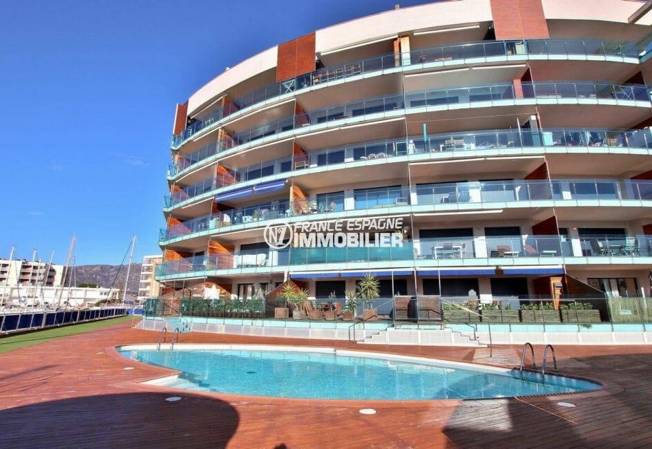 la costa brava: appartement ref.3867, façade de la résidence
