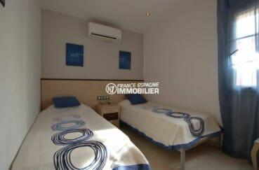 vente maison empuriabrava, ref.3875, troisième chambre avec deux lits