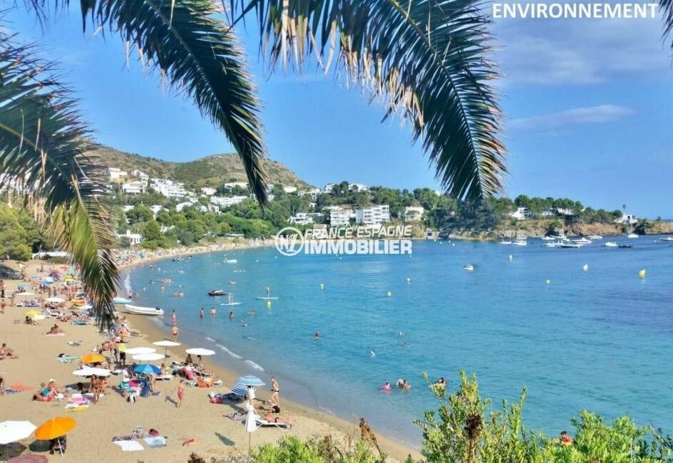acheter appartement rosas, ref.3882, en première ligne mer, terrasse et jardin à 30 m de la plage