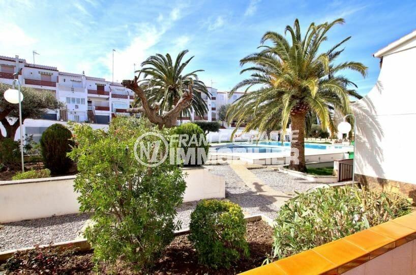 appartement a vendre rosas, 34 m², résidence avec piscine et tennis, proche plage