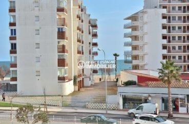 vente appartement rosas, studio 30 m² vue mer dans petite copropriété