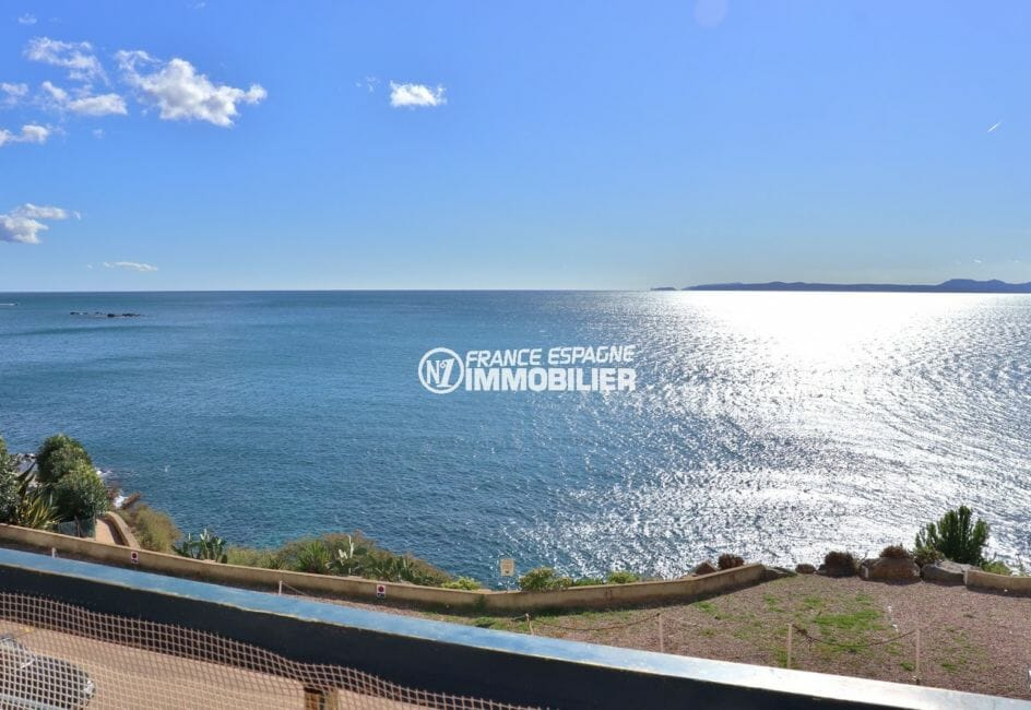appartements a vendre a rosas, 39 m², magnifique vue mer depuis la terrasse