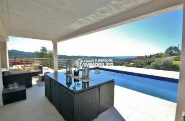 agence immobiliere costa brava: villa moderne avec terrasse 24 m², piscine, superbe vue
