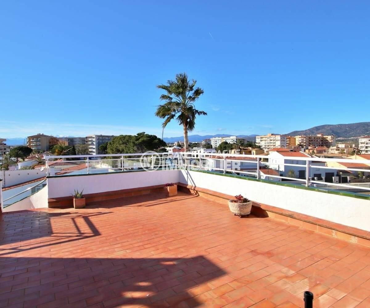 appartements a vendre a rosas, atico 65 m², grande terrasse solarium