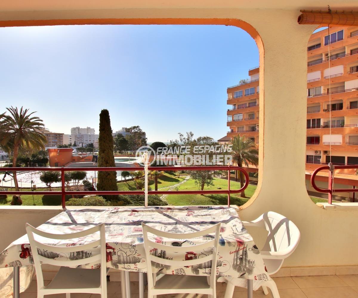 agence immobiliere costa brava: appartement 59 m², terrasse de 11 m² avec vue sur la mer