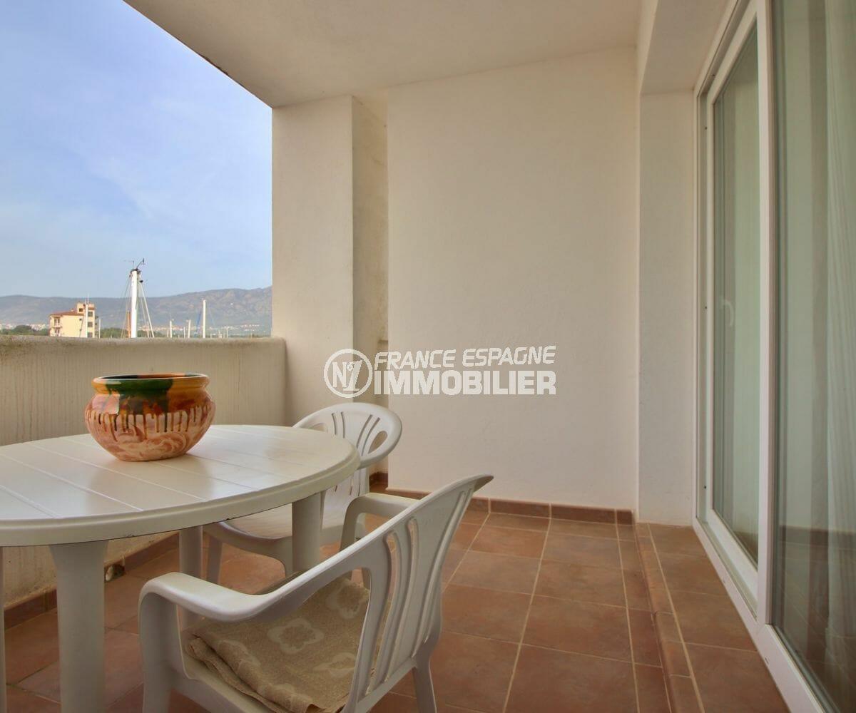 vente appartement rosas, 50 m², terrasse espace détente accès au salon
