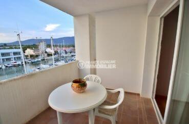 vente appartement rosas, 1chambre, séjour accès terrasse 50 m² vue sur la marina